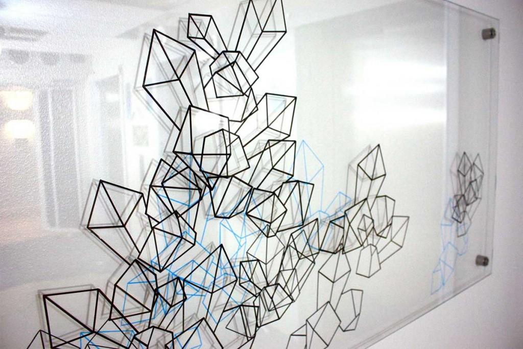 "Sara Lundkvist 2011, Victoria Tower Scandic Kista Public Art ""Kristallisering"""